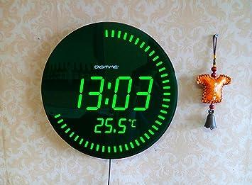 Amazoncom NEW 3d Creative Circular Large LED Digital Wall Clock