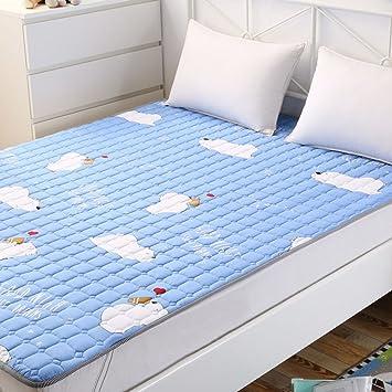 JKDHWOPSAJXGN Estera Plegable del algodón/Respirable,Doble,colchón Delgado/ colchón de algodón Completo/colchones Antideslizantes-L 120x200cm(47x79inch): ...