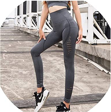 Sporty Chic Fitness Sports Yoga Capri Leggings with Pocket One Size Fits Most