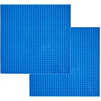 """EKIND 2 PCS Self Adhesive lassic Building Baseplates 10"""" x 10"""" Compatible with Lego Brickyard Building Blocks, Perfect for Activity Table or Displaying Compatible Construction Toys (Green)"""