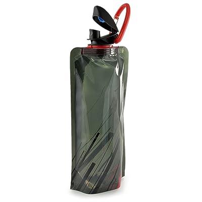 """'compacte """"Sac d'hydratation en plastique solide, pliable en silicone, contenance 0,7L, 100% Sans BPA, bouteille parfait pour les déplacements, léger et peu encombrant d'ext"""