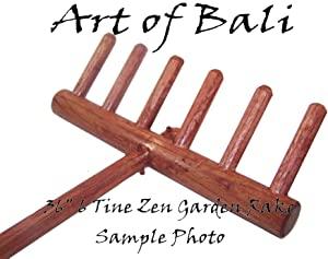 Art of Bali Zen Garden Rake 6 Tine Montessori Style Childrens Zen Garden Rake - Zen Gardens