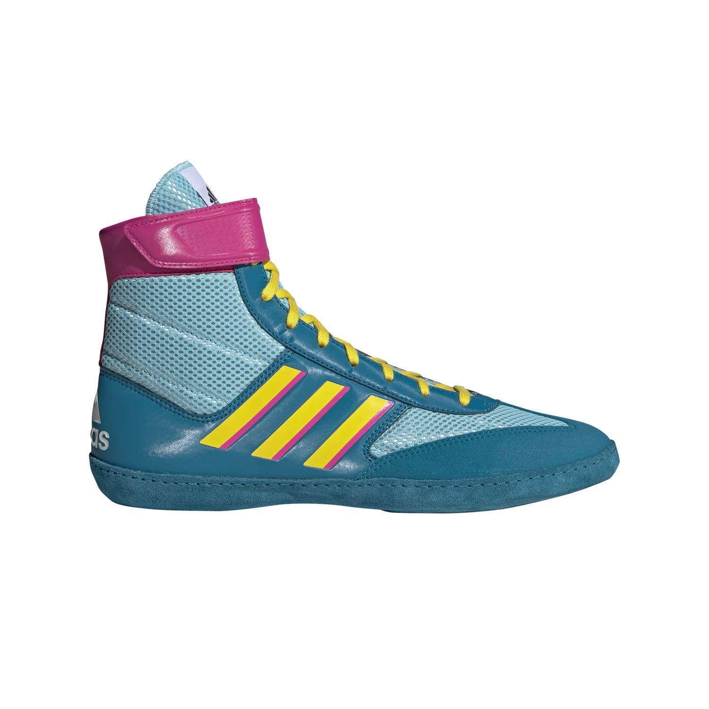 adidas Combat Speed 5 Aqua/Yellow/Teal Wrestling Shoes 4.5