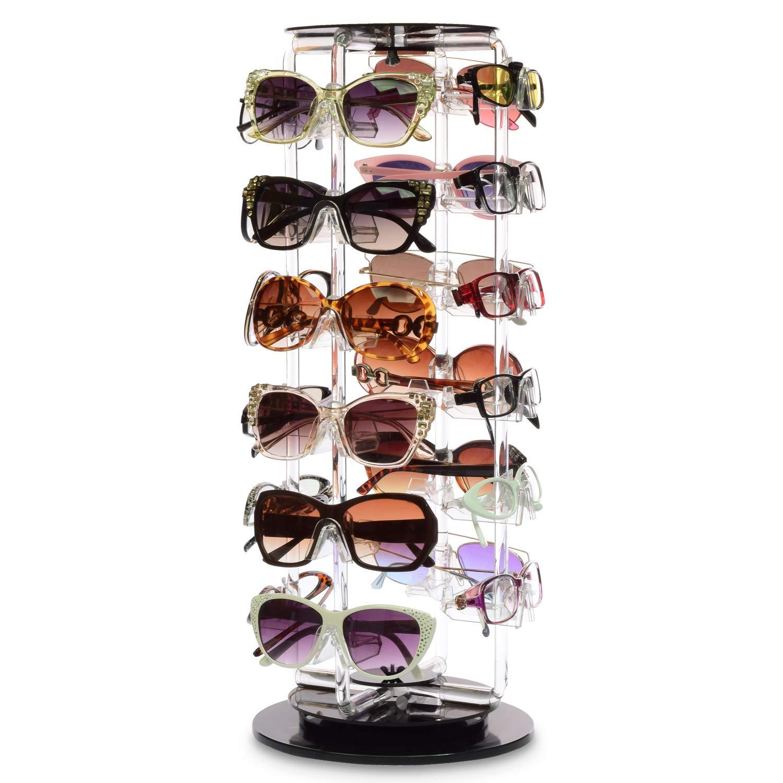 MOOCA Acrylic Rotating Sunglasses & Eyewear Holder Display, 24 Frames