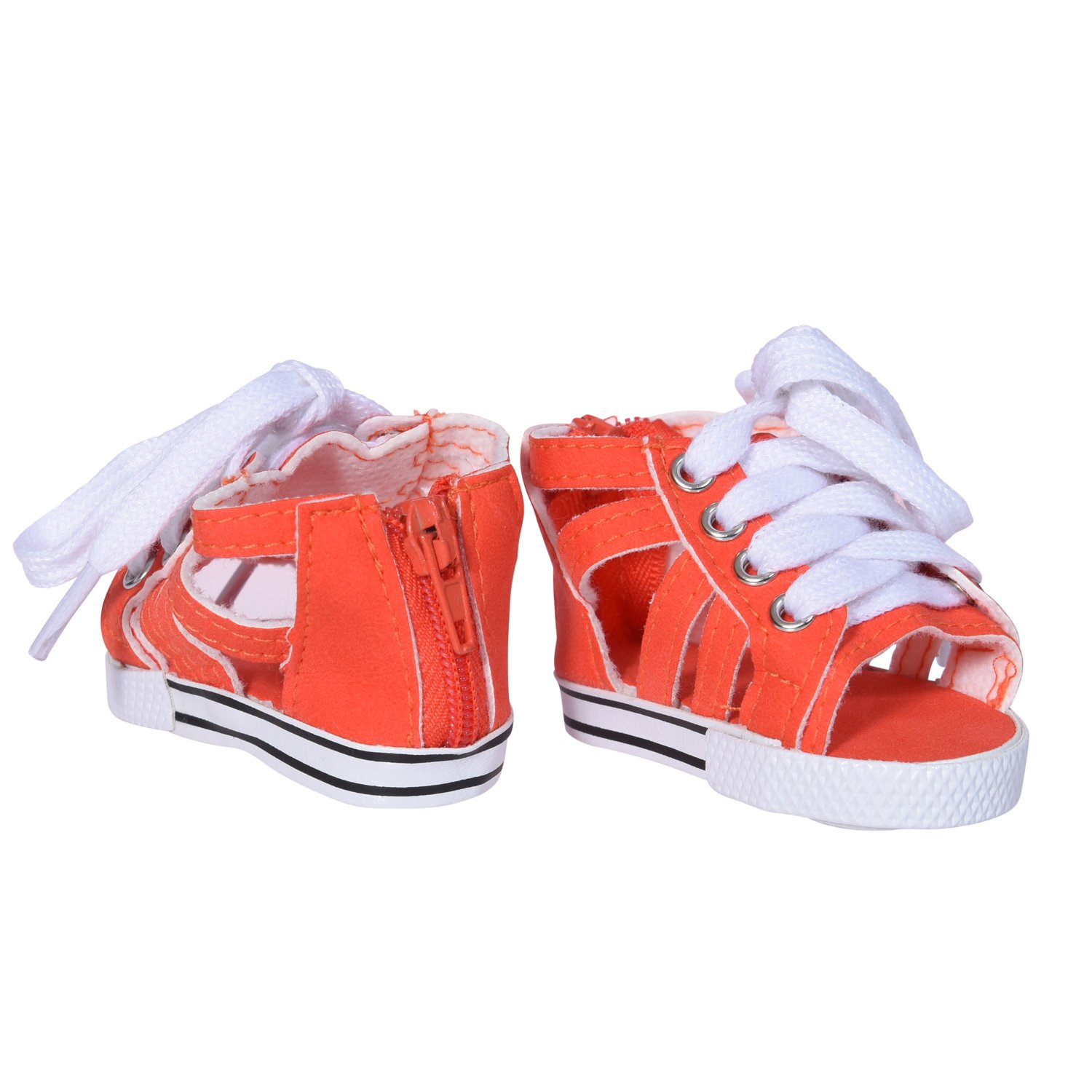 Red Canvas Tennis Shoes fits 18 inch American Girl Dolls