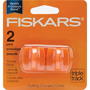 Fiskars Triple Track High-Profile Replacement Blades-Straight 2/Pkg