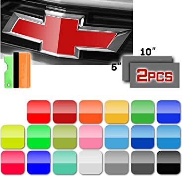 2 Vinyl Sheets Wrap Chevy Universal Cover DIY kit Bowtie Emblem Overlay Decals