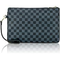 Gerosse Designer Clutch Purses for Women, Envelope Checkered Clutches Bag, Women Wristlet Handbag