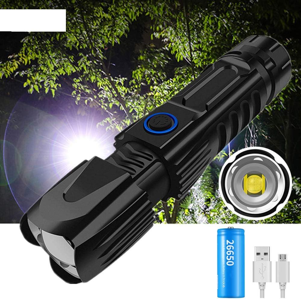 Mini High Lumen Flashlight Rechargeable LED Flashlight USB Flashlight Suitable for Outdoor Camping Night Fishing A