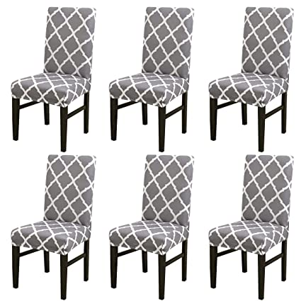 Awe Inspiring Livego Chair Cover 6 Pack Stretch Dining Chair Covers High Back Chair Protective Cover Slipcover Elastic Chair Protector Seat Covers For Dining Room Pdpeps Interior Chair Design Pdpepsorg