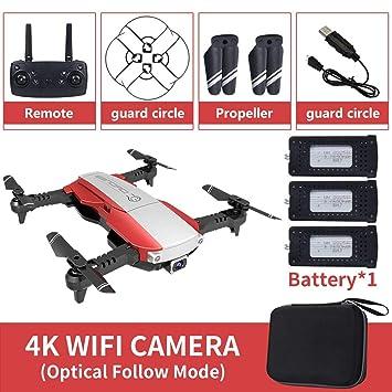 Gwendoll LANSENXI-NVO Plegable 2.4GHz WiFi FPV Drone 4K Cámara RC ...