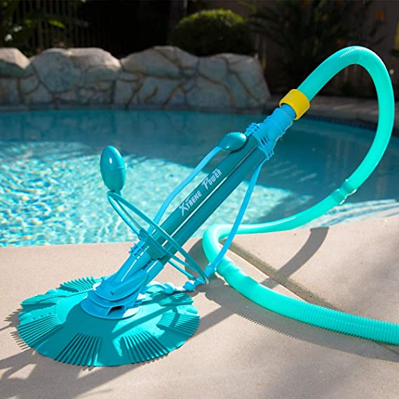Amazon Com Xtremepowerus 75037 Climb Wall Pool Cleaner Automatic Suction Vacuum Generic Blue Swimming Pool Suction Cleaners Garden Outdoor