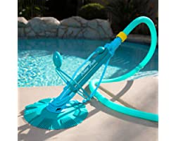 XtremepowerUS Premium Automatic Suction Vacuum-generic Climb Wall Pool Cleaner Sweeper In-Ground Suction Side + Hose Set