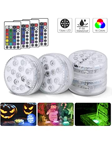 Accent Lighting Creatrek Submersible LED Lights,Submersible Lights Remote Controlled RGB Changing Waterproof Lighting for Pond Pool Decoration 1Pack