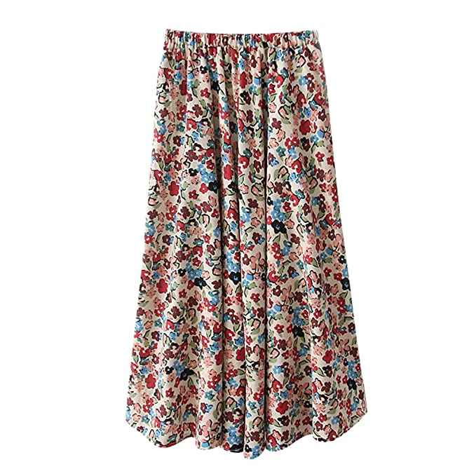 5ab71fad5f ZKOOO Estampado Floral Maxi Faldas para Mujeres Boho Larga Falda Verano  Cintura Alta Playa Skirts Elegante  Amazon.es  Ropa y accesorios