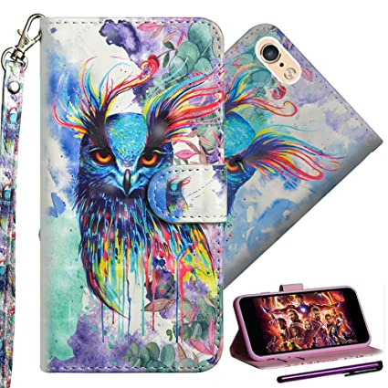 ISADENSER Huawei Y5 2018 Case Y5 2018 Huawei Phone Case with Card Holder  [Wallet Stand] 3D Painting Full Leather Wallet Flip Protect Kickstand Case