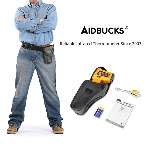 AIDBUCKS AD6530D 's also ideal for small to medium-scale professional work that doesn't require you to measure temperatures beyond 14720F.