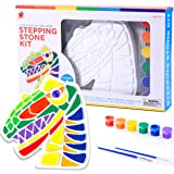 TBC The Best Crafts Stepping Stone Kit, Art and Crafts Gift for Kids 6,Dinosaur Molds,Outdoor Decor