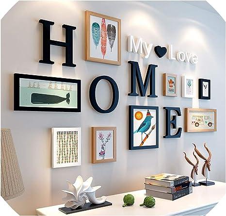 Amazon Com 9pcs Lot Picture Frames My Love Letters Wooden Photo Frame Set Wall Decoration Handmade Decor Marco Fotos 4