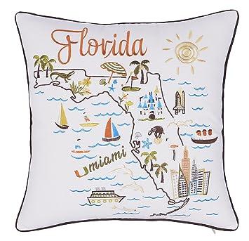 Amazon.com: decorhouzz fundas de almohada Estado/Mapa de la ...
