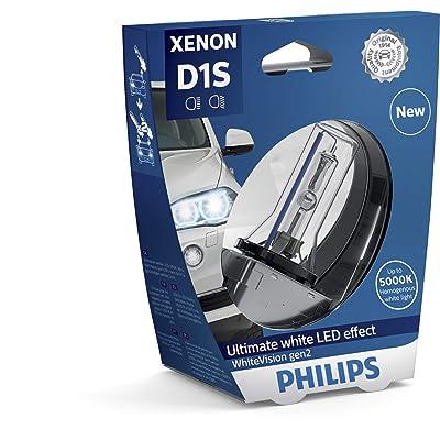 Philips 85415WHV2S1 WhiteVision gen2 Xenon headlight bulb D1S, single blister: Automotive