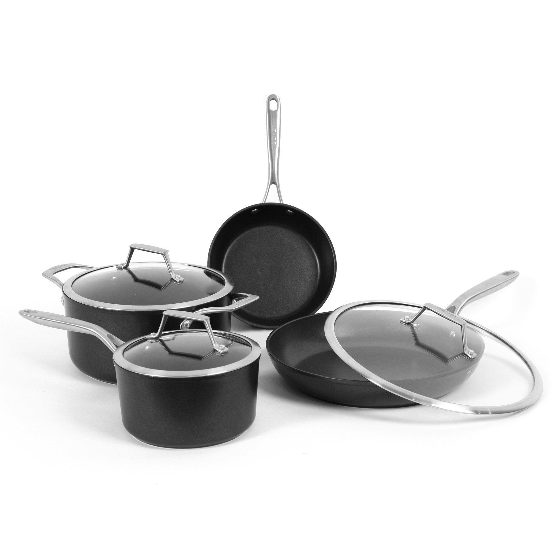 TeChef TECHEF - Onyx Collection Nonstick Cookware Set, 7-Piece by TECHEF