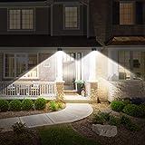 URPOWER Solar Lights Wireless Waterproof Motion