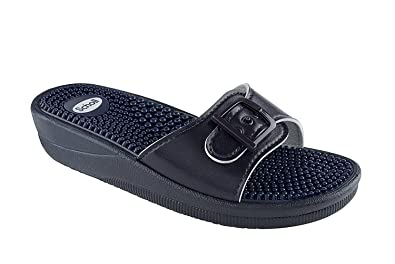 518ce4b2f35983 Scholl New Massage Fitness Sandals Navy Blue  Amazon.co.uk  Health ...