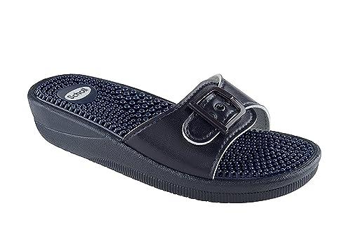 uomo  UOMO PU SUPERIORE SLIP ON Sandalo con pvc suola taglia UK 65