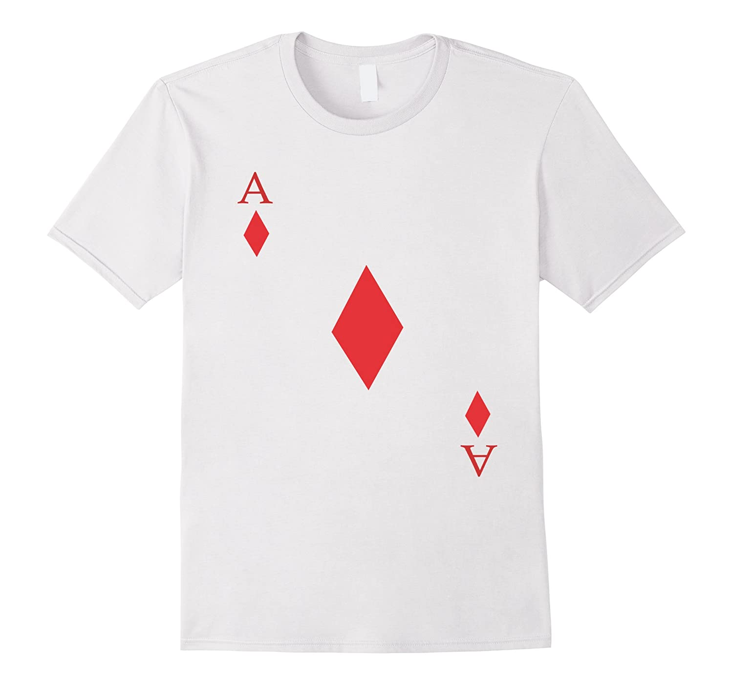Ace of Diamonds Tshirt Costume - Be Part of a Poker Hand!-Art