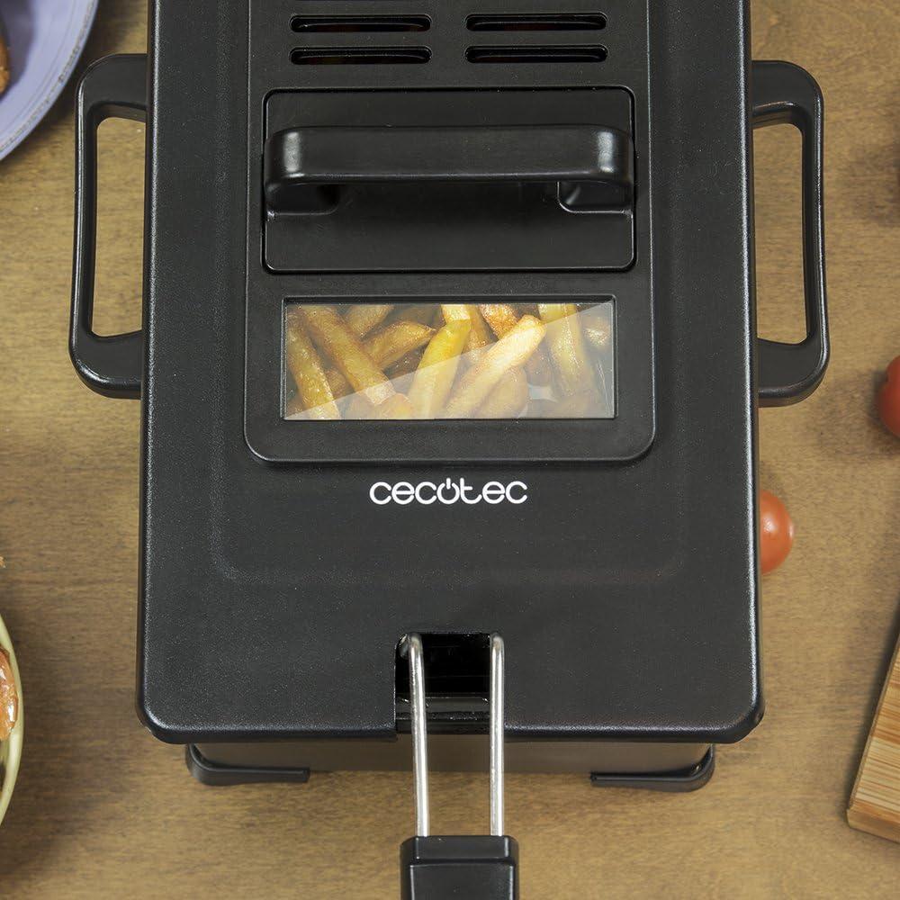 Cecotec Freidora el/éctrica CleanFry Infinity 3000 3 L Capacidad de Aceite Filtro OilCleaner 2400 W cestillo de fre/ír y Filtro OilCleaner Aptos para lavavajillas y Temporizador 30 min. cubeta