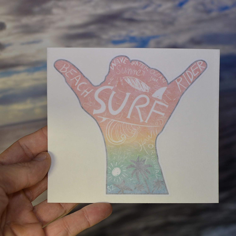 Hang Loose Sticker Hawaii Surfing Car//Laptop Vinyl Decal