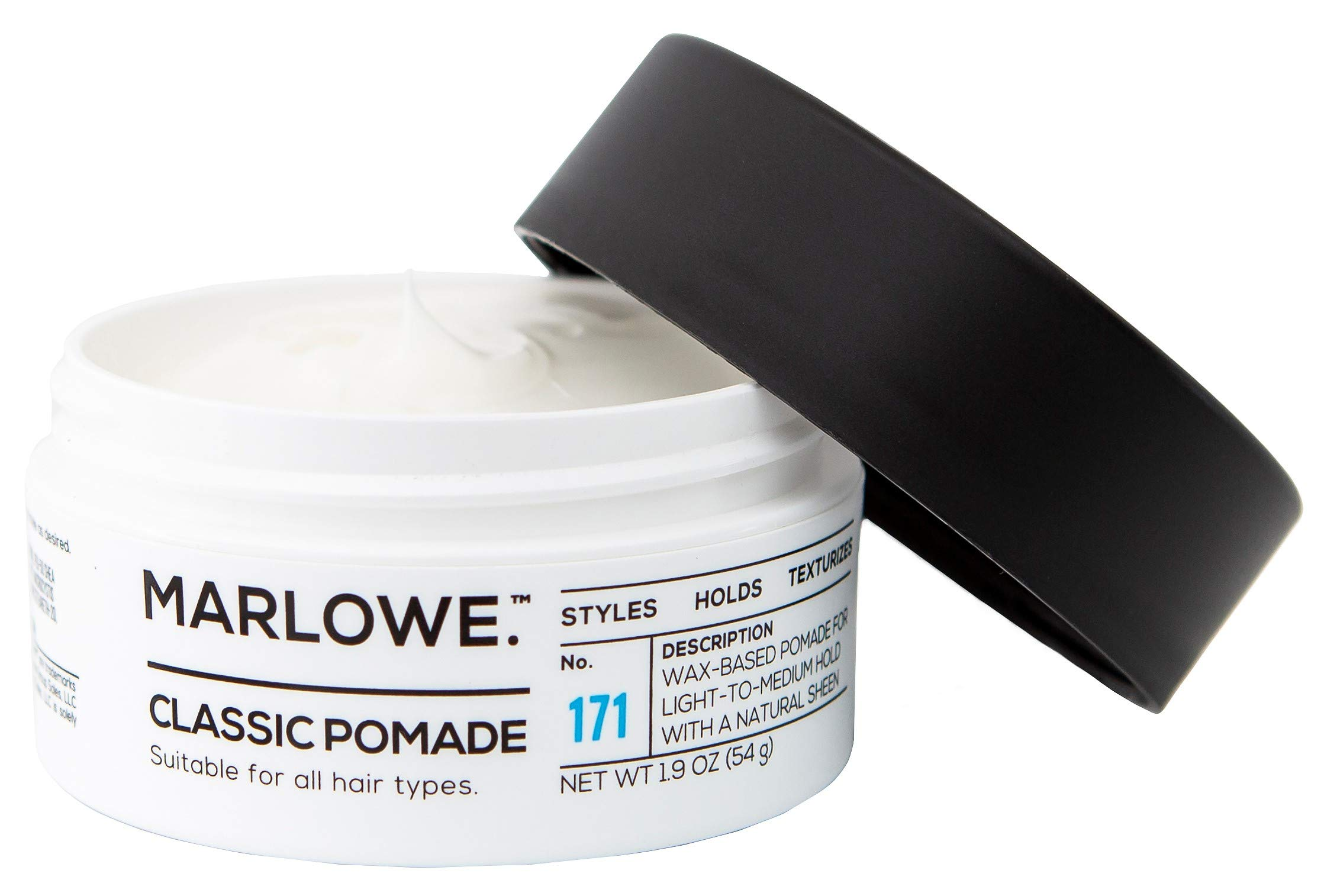 MARLOWE. Classic Pomade for Men No. 171 | 1.9 oz | Light to Medium Hold | Matte Finish | Styles, Holds, Texturizes with Natural Ingredients | All Hair Types by MARLOWE. M BLEND