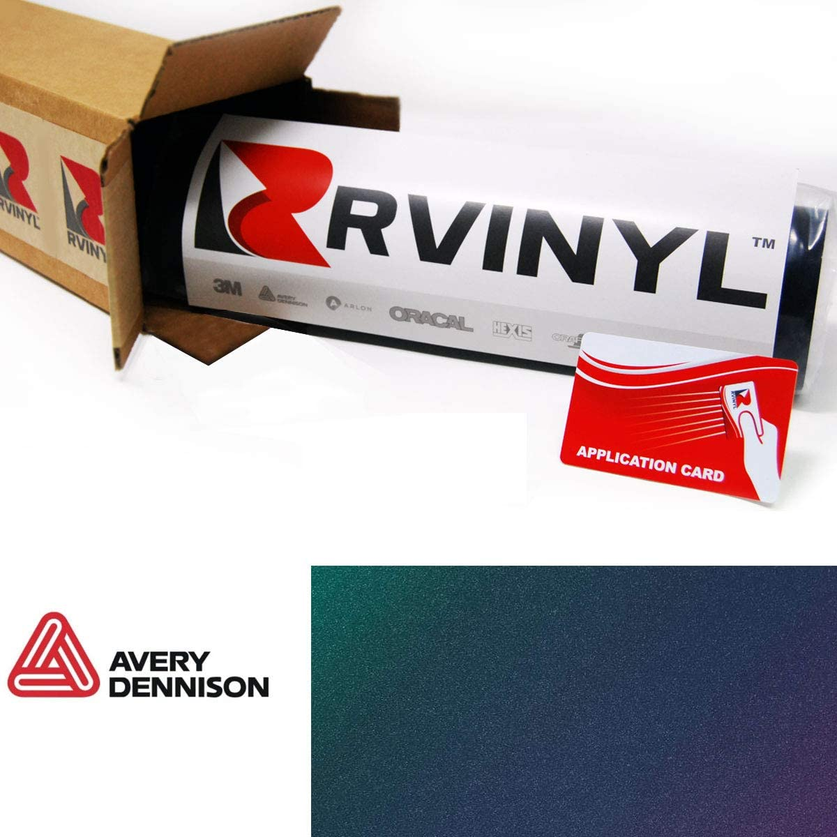 Avery SW900 446-S ColorFlow Satin Rising Sun Supreme Wrapping Film Vinyl Vehicle Car Wrap Sheet Roll 12 x 60 w//Application Card