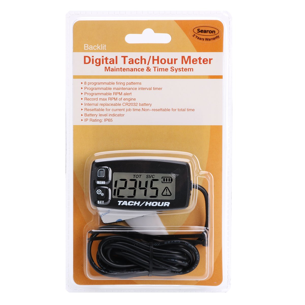 Searon Retroalimentado Digital Tach Hour Meter Tacómetro ...