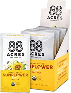 product image for 88 Acres Organic Sunflower Seed Butter | Vanilla Spiced | Keto-Friendly, Vegan, Gluten Free, Dairy Free, Nut-Free Non GMO Seed Butter Spread | 20 Single Serve Squeeze Packs, 1.16 oz