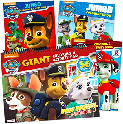 - Amazon.com: Paw Patrol Coloring And Activity Book Bundle~ Set Of 4 Paw  Patrol Books, Over 200 Pages Total: Toys & Games