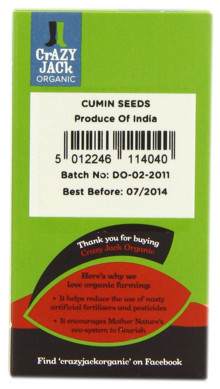 Crazy Jack Organic - Cumin Seeds - 50g (Case of 6)