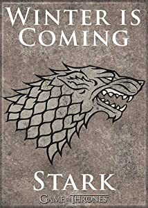 "Ata-Boy Game of Thrones Stark Emblem 2.5"" x 3.5"" Magnet for Refrigerators and Lockers"