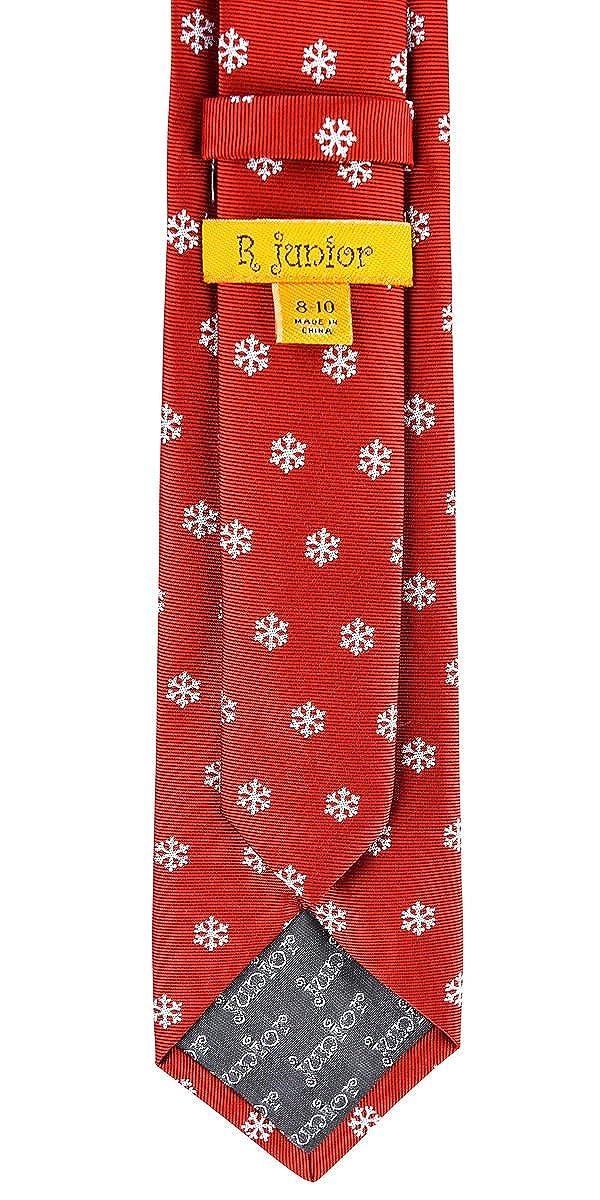 8-10 years Retreez Christmas Snowflakes Pattern Woven Boys Tie