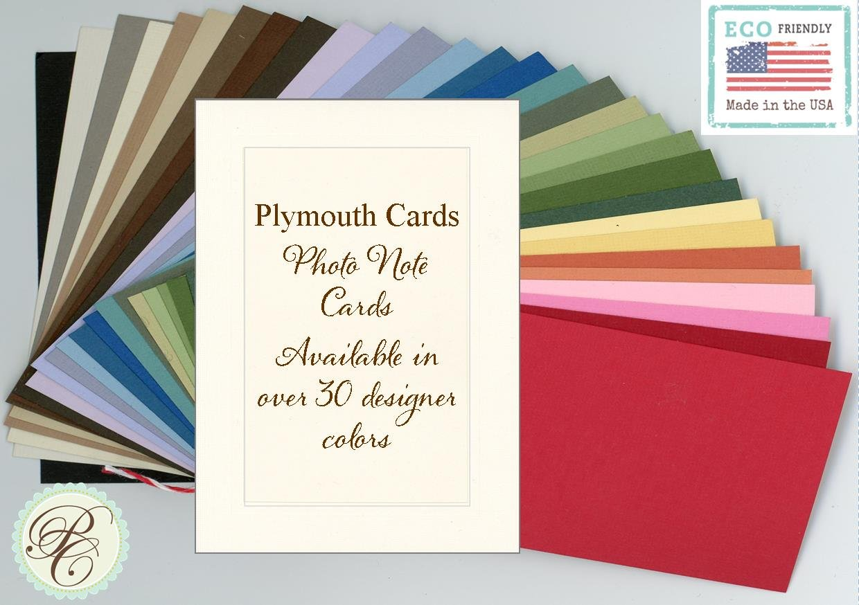 30 card Sampler by Plymouth Cards 4x6 Photo Insert Note Cards - Pkg 30