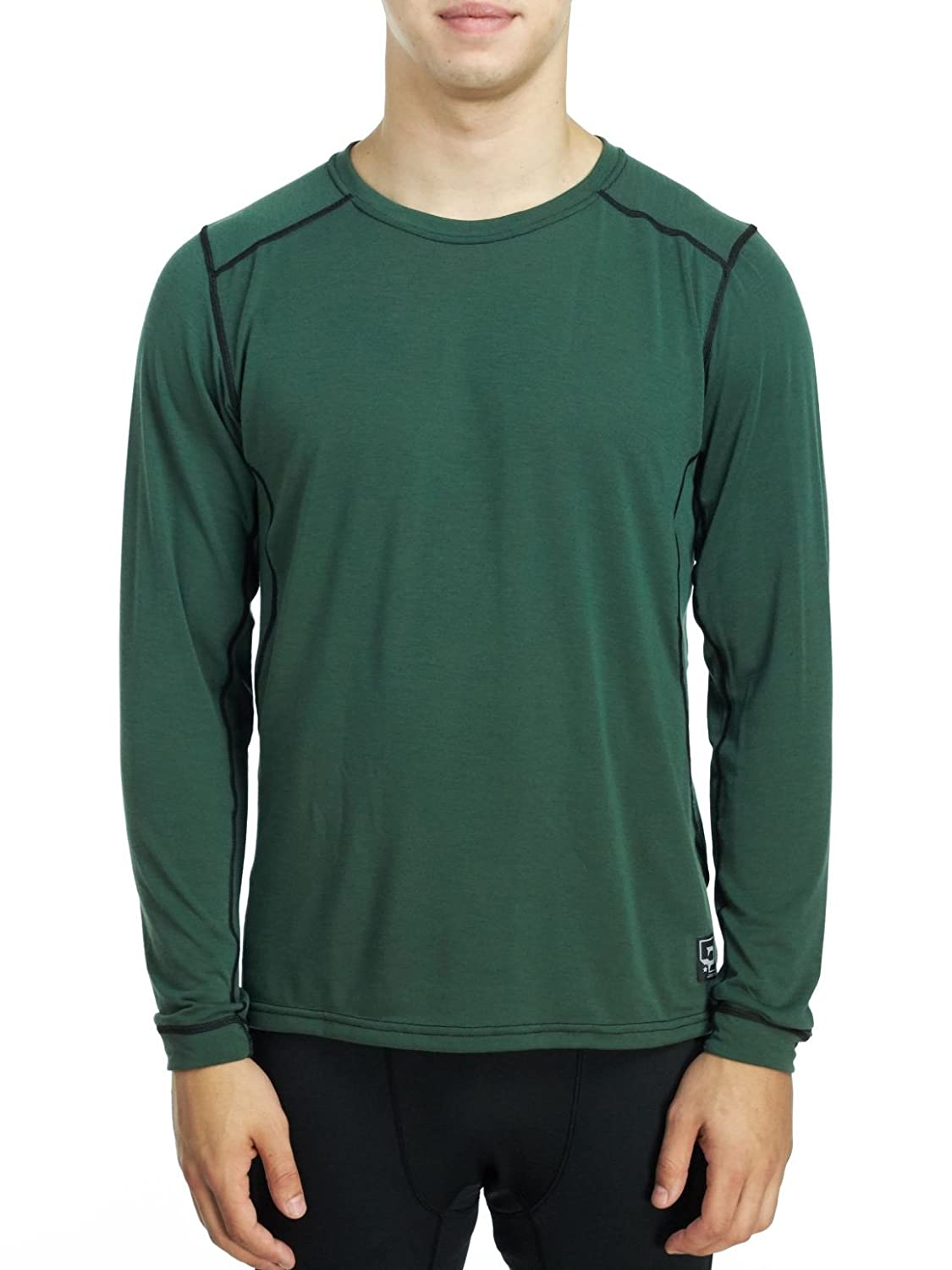 AYG PolarMax Herren Micro H1 LS Crew 2015 (Grau Heather, X-Large)