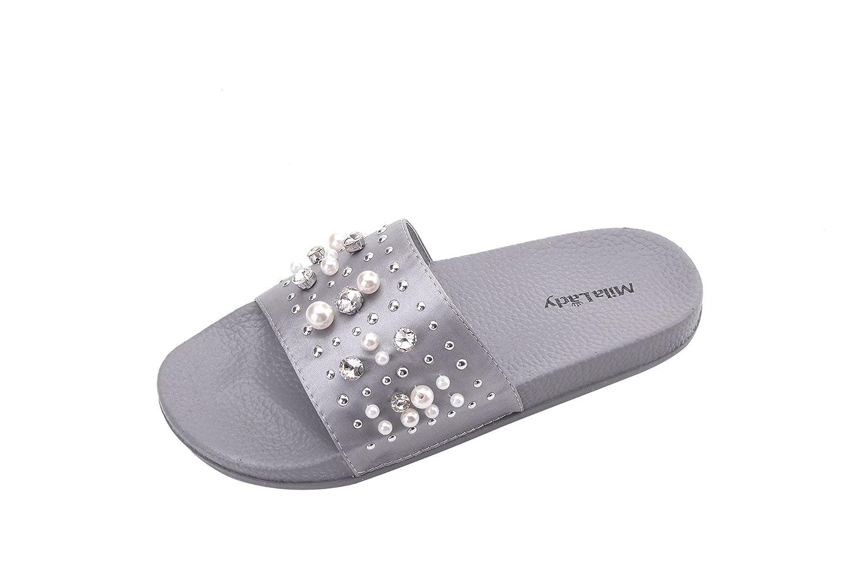 ea2c4150e393 Slip into Embellish Pearl and Rhinestone Fashion Slipper