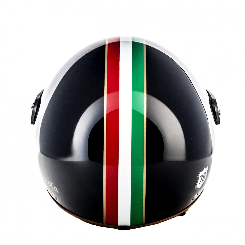 59-60cm SOXON SP-325 Winner /· Pilot Vintage Retro Mofa Jet-Helmet Biker Bobber Chopper Scooter-Helmet Vespa-Helmet Moto-Helmet Cruiser /· ECE certified /· incl Visor /· incl Cloth Bag /· Beige /·  L