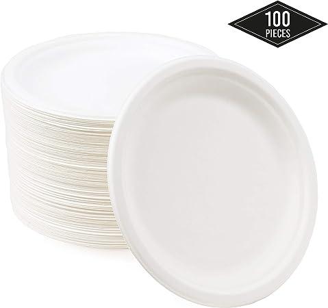 """Livre blanc 100 Jetable plaques 7 /"""" 18cm idéal pour barbecue Mariage et Fêtes"""