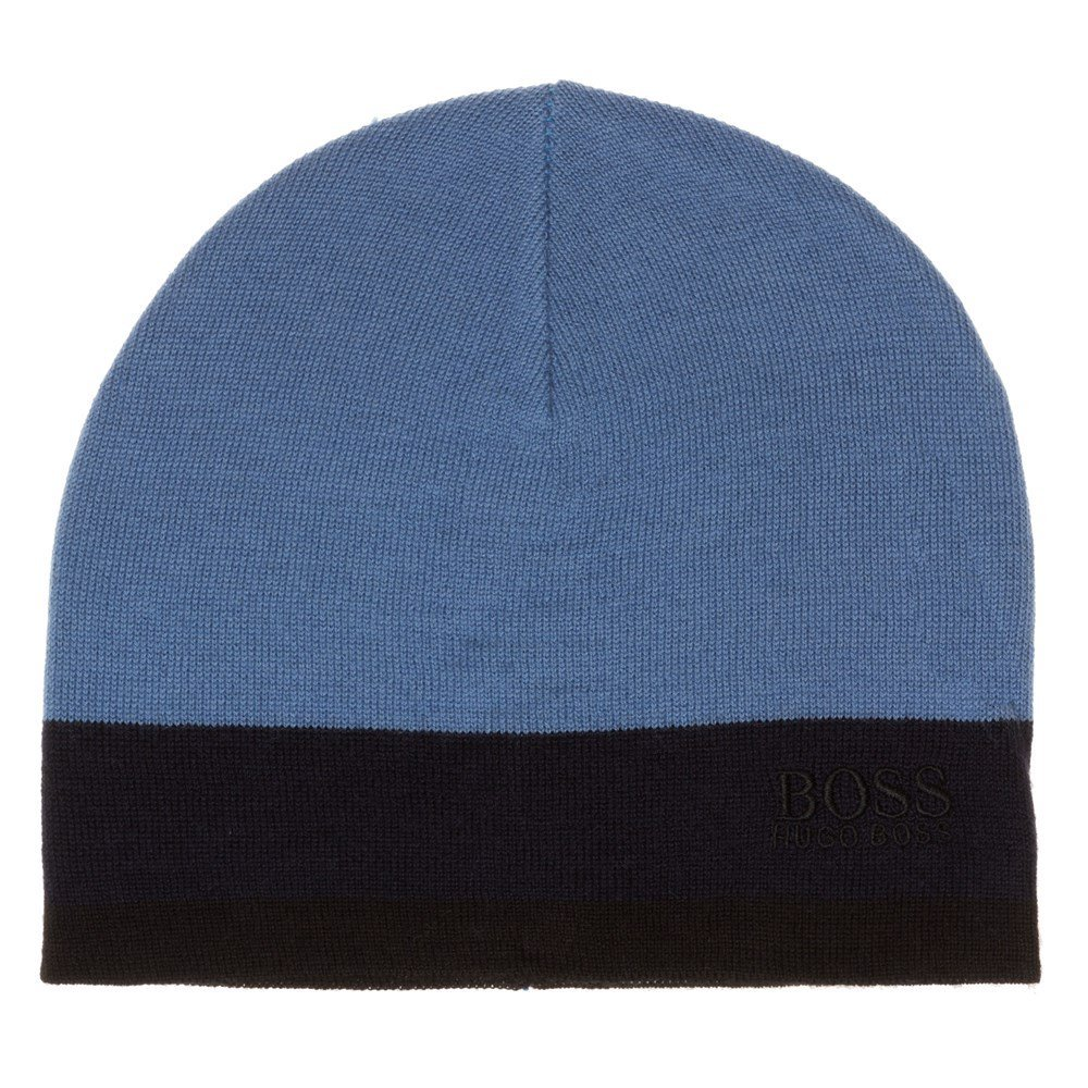 Boss Green Ciny Mens Beanie Blue