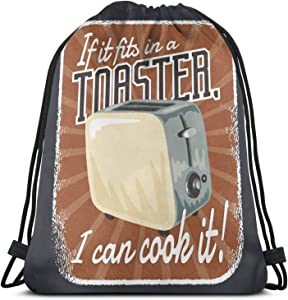 If It S In A Toaster I Can Cook It Pullover Hoodie Drawstring Bag Sports ness Bag Travel Bag Gift Bag