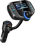 (Upgraded Version) Bluetooth FM Transmitter, Sumind Wireless Radio Adapter Hands-Free Car