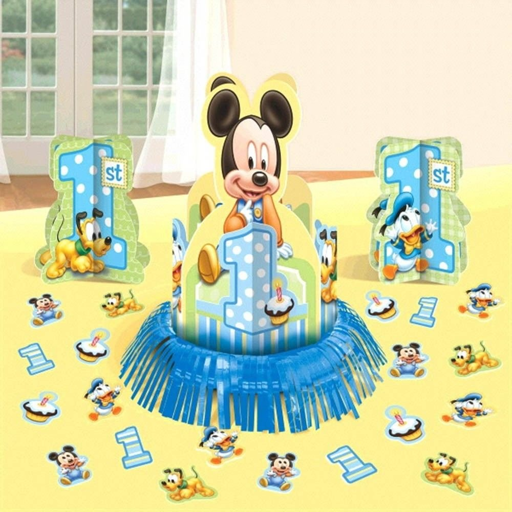 Amazon.com : Disney Baby Mickey Mouse 1st Birthday Party Table ...