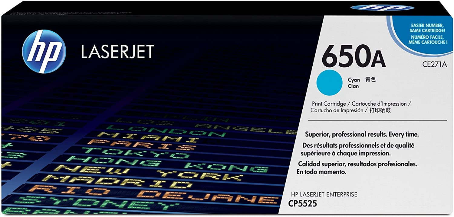 HP 650A | CE271A | Toner Cartridge | Cyan, 1 pack